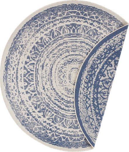 Teppich »Rosica«, freundin Home Collection, rund, Höhe 5 mm, Wendeteppich, In- und Outdoor geeignet