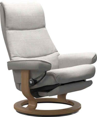 Stressless® Relaxsessel »View«, mit Classic Base und Power™, elektrisch verstellbar, optional 2-motorisch, Größe M & L, Gestell Eiche