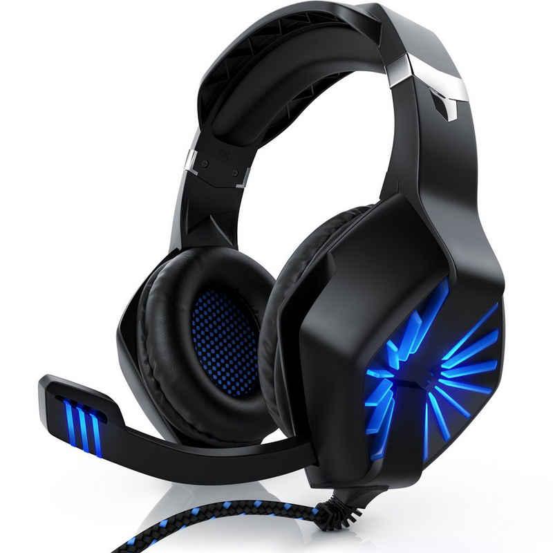 "CSL Gaming-Headset (Gaming Headset ""GHS-102"" mit Mikrofon Kopfhörer für Windows/Mac/Linux /PS4/PS4 Pro)"