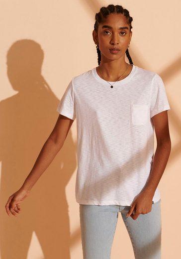 Superdry T-Shirt »SCRIPTED CREW TEE« mit Brusttasche