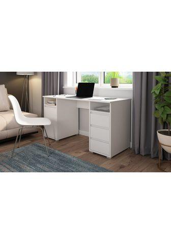 Homexperts Rašomasis stalas »Loop« su 3 stalčiai ...