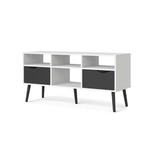 ebuy24 TV-Bank »Napoli TV-Möbel mit 2 Schubladen und 4 Ablagen in«