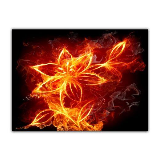 Bilderdepot24 Leinwandbild, Leinwandbild - Feuerlilie