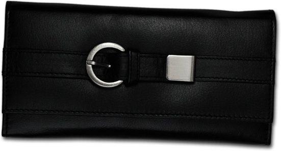 DrachenLeder Geldbörse »D2OPS701S Portemonnaie schwarz DrachenLeder big«, Damen, Jugend Geldbörse aus Echtleder in schwarz, Gürtelschnalle