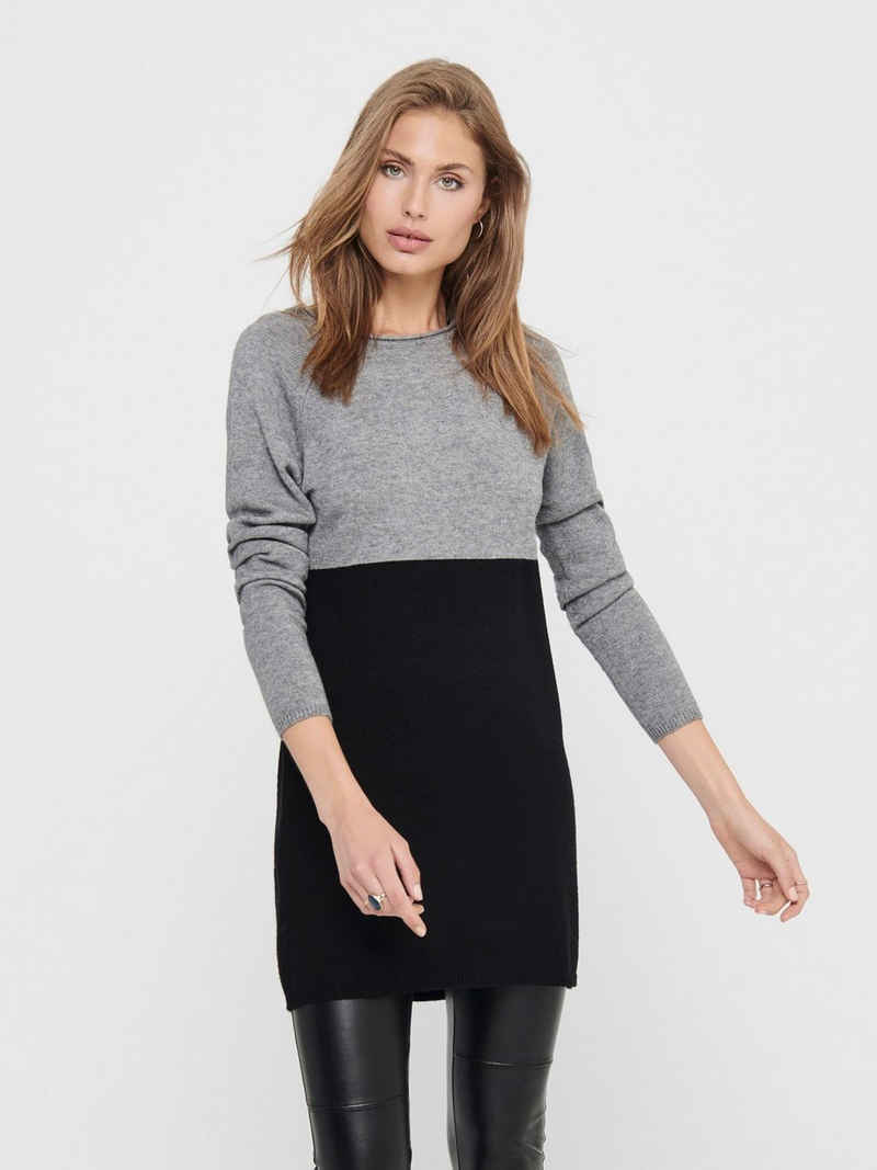 Only Shirtkleid »3811« (1-tlg) ONLY Damen Langarm Feinstrick Schirtkleid Dress Long Pullover ONLLILLO