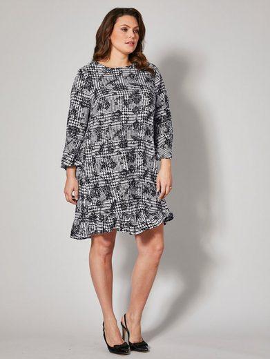 Sara Lindholm by Happy Size Kleid mit Allover-Print