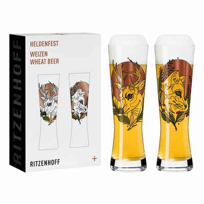 Ritzenhoff Bierglas »Heldenfest Weizen 2er-Set 003«, Glas