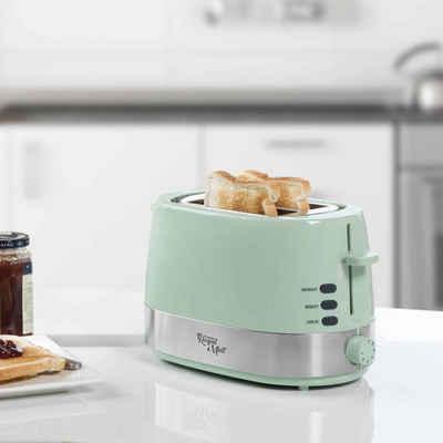 bestron Toaster Bestron Toaster mit Brötchenwärmer ATS1000M 850 W Minzgrün