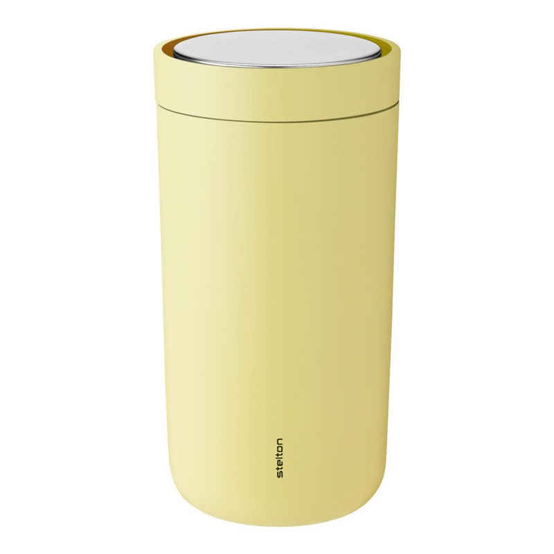 Stelton Coffee-to-go-Becher »To-Go Click soft yellow 200 ml«, Stahl