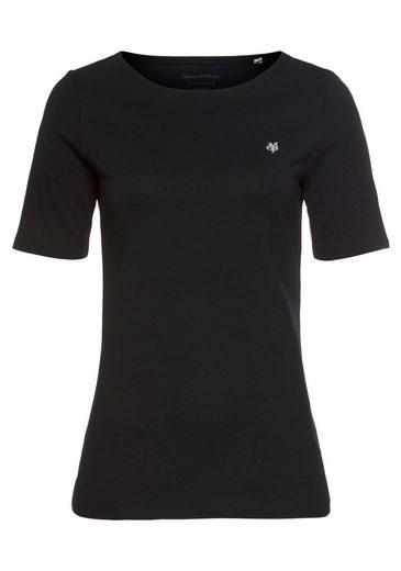 Marc O'Polo T-Shirt mit dezentem Logo-Detail vorn