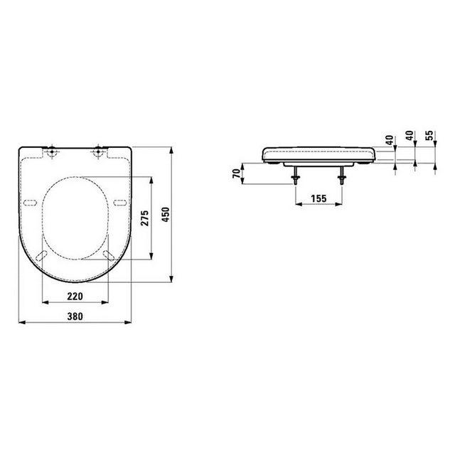 WCs und Zubehör - Laufen WC Sitz »Laufen Pro«, mit Absenkautomatik  - Onlineshop OTTO