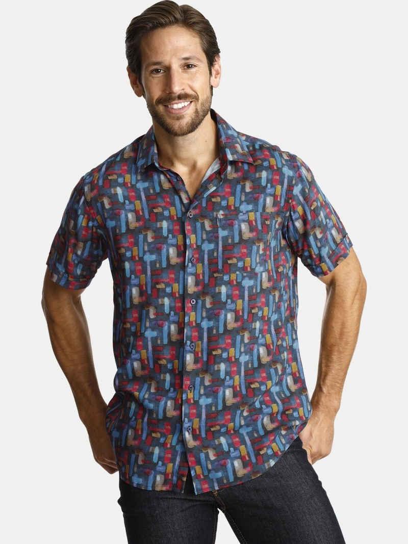 Charles Colby Kurzarmhemd »DUKE NIGEL« aus sommerlicher Viskose