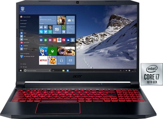 Acer Nitro 5 Notebook (39,62 cm/15,6 Zoll, Intel Core i7, GeForce GTX 1650 Ti, - GB HDD, 1000 GB SSD, inkl. Office-Anwendersoftware Microsoft 365 Single im Wert von 69 Euro)