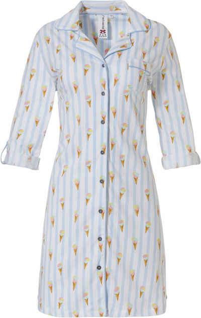 Rebelle Nachthemd »Rebelle Damen Nachthemd geknöpft« Baumwolle