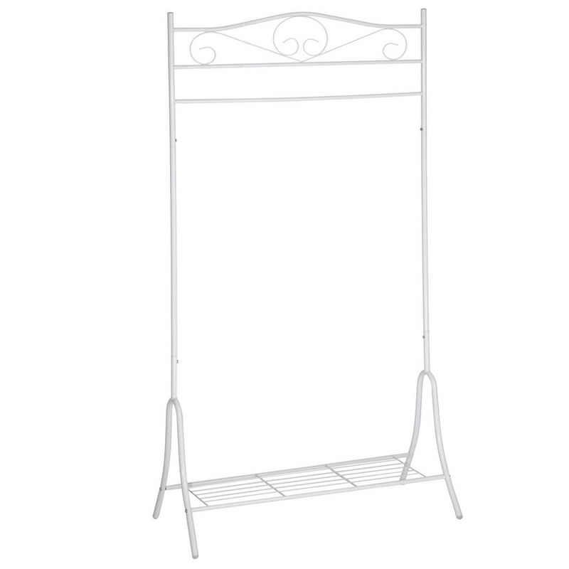 tectake Kleiderständer »Metall Kleiderständer Antik 90x44x173cm«