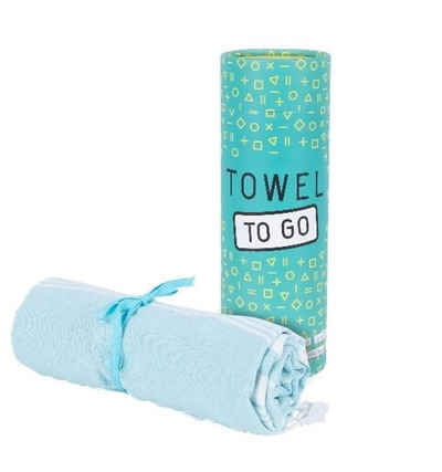 Towel to Go Hamamtuch (1-St), 180 x 100 Saunatuch Strandtuch Reishandtuch Wellnesstuch Geschenkbox