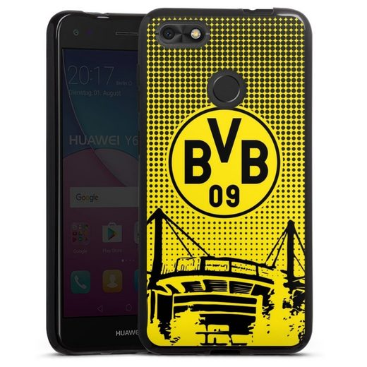 DeinDesign Handyhülle »BVB Dots« Huawei Y6 Pro (2017), Hülle Stadion BVB Borussia Dortmund