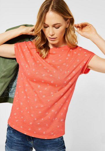 Cecil V-Shirt aus softem Materialmix