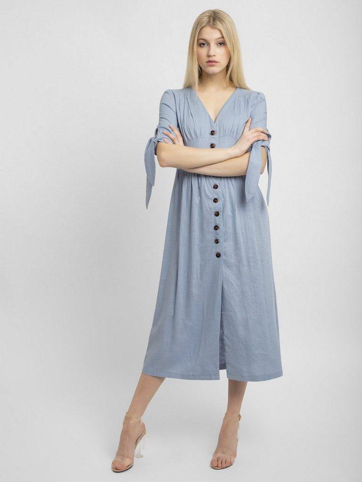 Apart Sommerkleid »mit V-Ausschnitt, durchgeknöpft« mit V ...