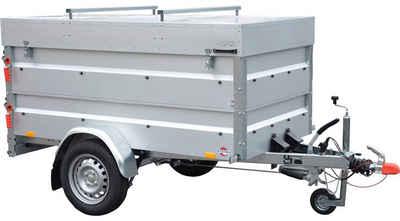 STEMA PKW-Anhänger »BASIC 850 COC«, max. 593 kg, inkl. Bordwandaufsatz und Deckel