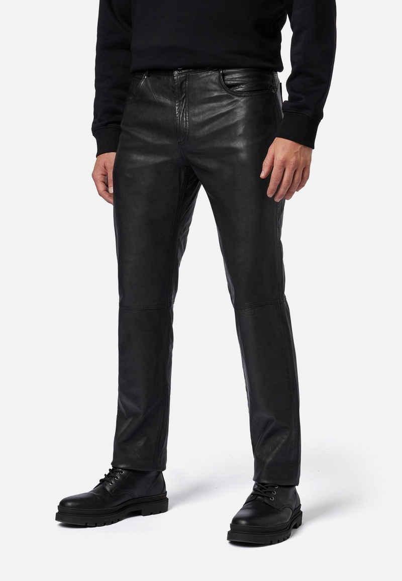 RICANO Lederhose »Trant Pant« Hochwertiges Lamm-Nappa Leder; 5-Pocket Jeans-Optik