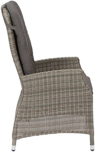 SIENA GARDEN Loungesessel »Calado Dining Move Sessel«  Alu/Polyrattan  taupe  inkl. Auflagen