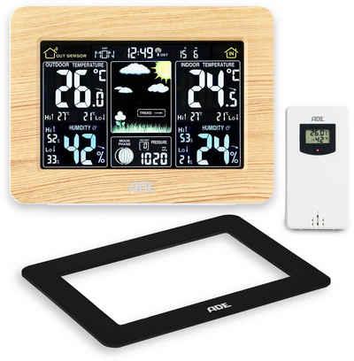ADE »WS1914« Wetterstation (Funk-Wetterstation mit Außensensor und 2 Wechselrahmen)