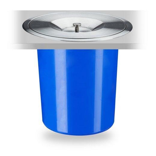 relaxdays Einbaumülleimer »Mülleimer für Arbeitsplatte 5 Liter«