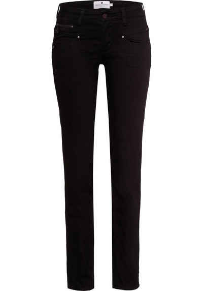 Freeman T. Porter Gerade Jeans »Alexa Straight S-SDM« mit Zierreißverschlüssen