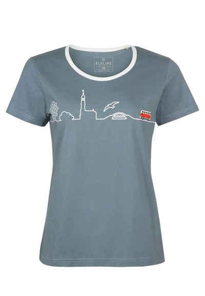 Elkline T-Shirt »Little Things« lizenzierter VW Brust und Rücken Print