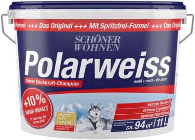 SCHÖNER WOHNEN-Kollektion Wand- und Deckenfarbe »Polarweiß«, Innenfarbe, Aktionsartikel mit +10% mehr Inhalt und Aktionscode