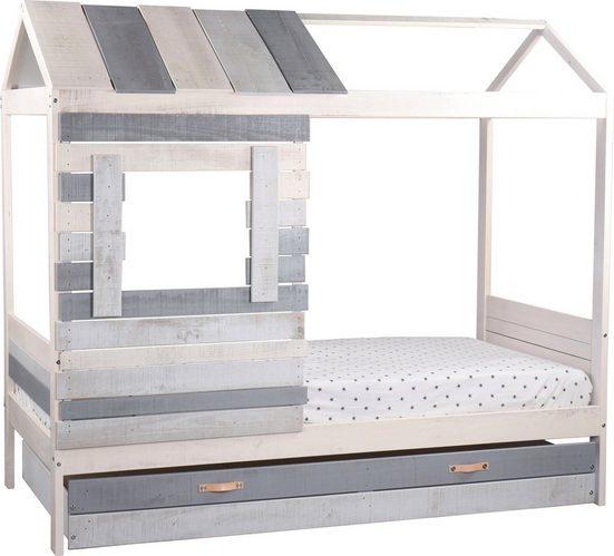 Lüttenhütt Hausbett »Drollig«, Kinderbett in skandinavischer Gemütlichkeit