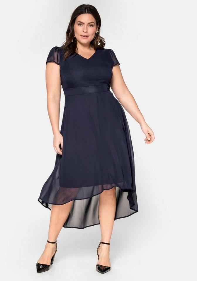 Festtagsmode - Sheego Abendkleid mit Flügelärmeln › blau  - Onlineshop OTTO