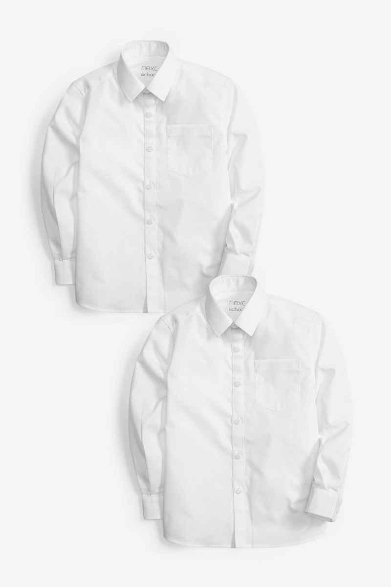 Next Hemd »Langarmhemd mit Klettverschluss, 2er-Pack« (1-tlg)
