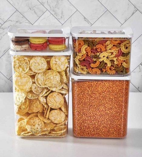 Vip Ahmet Vorratsdose »Vorratsdosen rechteckig 4er Set Gewürzdosen Frischhaltedosen Aufbewahrungsbox Küche Vorratsbehälter mit Deckel, BPA frei«, (4-tlg)
