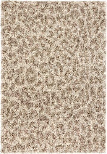 Hochflor-Teppich »Gemma«, my home, rechteckig, Höhe 35 mm, weicher Flor, Leopard