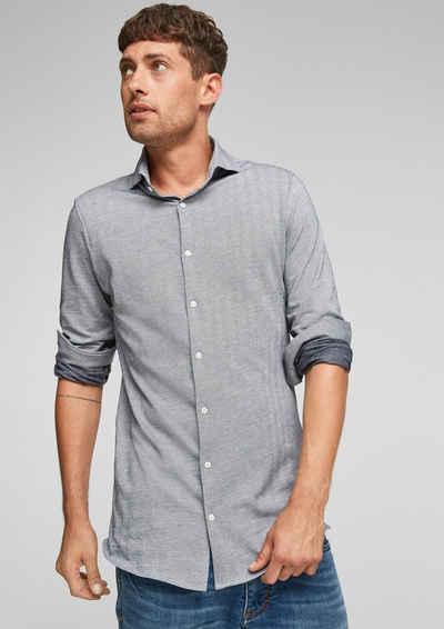 s.Oliver Langarmhemd »Slim: Jerseyhemd mit Muster«