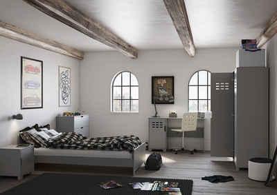 STEENS Einzelbett »Loke«, modernes Jugendbett im Industrial Look