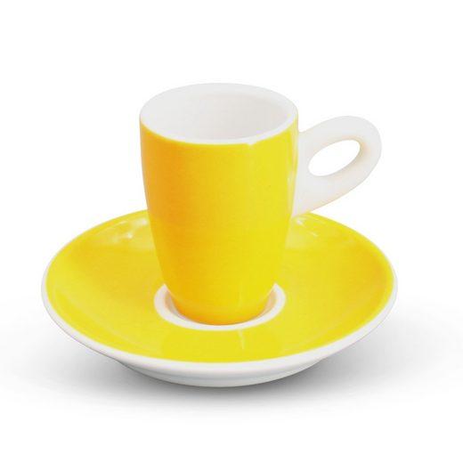 Walküre Porzellan Kaffeeservice »Espresso-Set 2tlg. Alta Gelb Walküre Porzellan« (2-tlg), Porzellan, ALTA