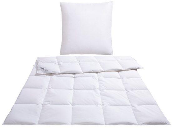 Daunenbettdecke + 3-Kammer-Kopfkissen, »Grit«, DELAVITA, Füllung: Bettdecke: 100% Gänsedaunen, Bezug: 100% Baumwolle, für den erholsamen Schlaf entwickelt!