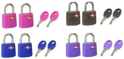Master Lock Vorhängeschloss »TSA«, (Set, 2-tlg), TSA Gepäckschloss, 23 mm