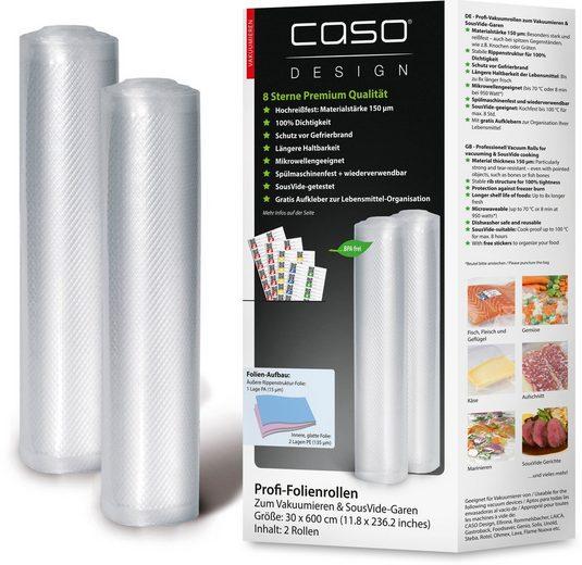 Caso Vakuumier-Folienrollen 1222, Zubehör für alle handelsüblichen Balken Vakuumierer, 2 Stück