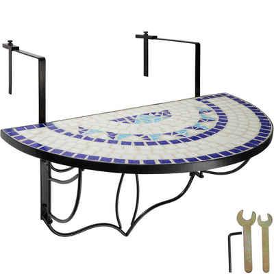 tectake Balkonhängetisch »Balkontisch Mosaik klappbar« (1-St)