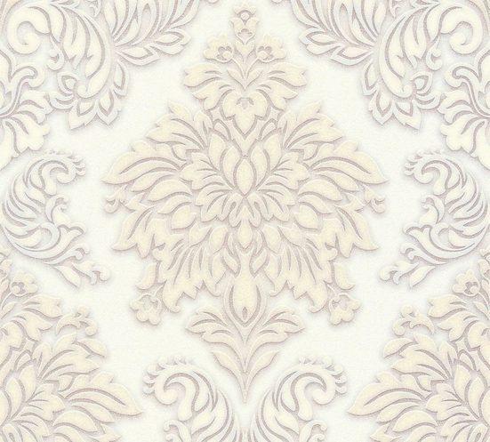 living walls Vliestapete »Metropolitan Stories Lizzy London mit Glitzereffekt«, strukturiert, glänzend, Glitzermuster, ornamental, Barock, (1 St), strukturiert