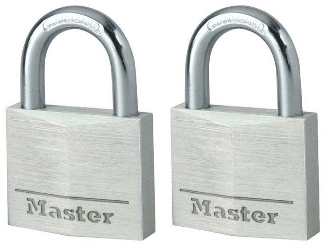 Master Lock Vorhängeschloss, Sicherheitsklasse 5, (Set, 2-tlg), Aluminium, gelichschließend