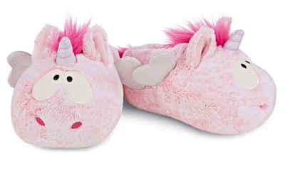 Nici »Pink Harmony« Plüsch Hausschuhe im süßen Einhorn-Look