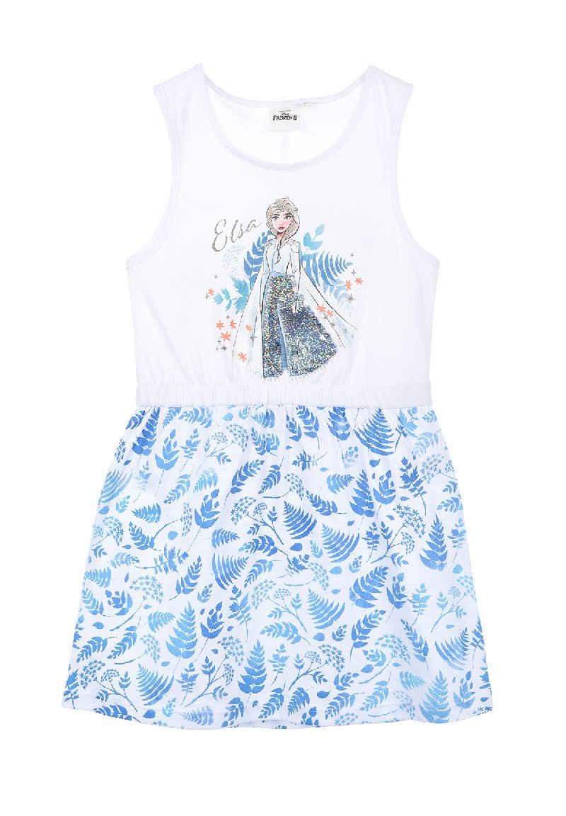 Disney Frozen Sommerkleid »Eiskönigin Elsa Mädchen Kleidchen Dress« Wendepailletten im Motiv