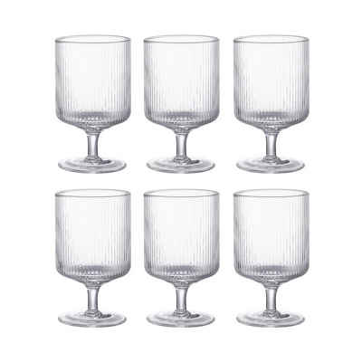 BUTLERS Weinglas »BERGEN 6x Weinglas 280ml«, Glas, mundgeblasen