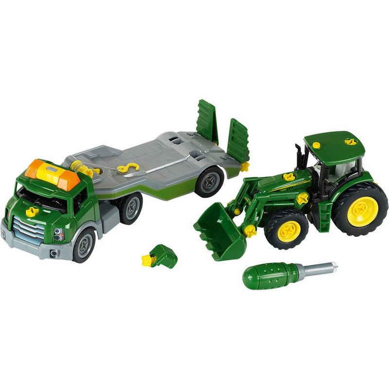 Klein Spielzeug-Auto »klein Transporter mit John Deere Traktor«