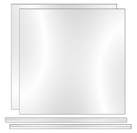 Phoenix Regalelement »Rückwand Atlanta«, Packung 2-tlg., B/H/T: 34,2/3/34 cm, Rückwand, Plexiglas